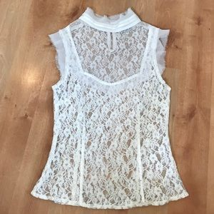 Tops - White Lace Blouse